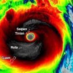 Super typhon Yutu sur les Iles Mariannes - Pire cyclone en 2018